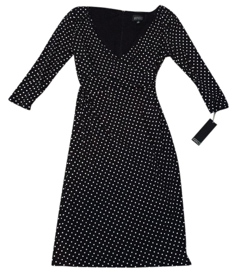 3618811dc3d Adrianna Papell Black and White Knee Length Work Office Dress Size 4 ...