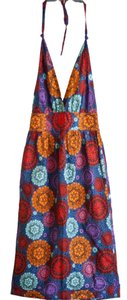 Fish Fry Halter XS Mid-Length Geometric Multi Color Maxi Dress by Anthropologie