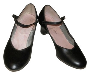 Capezio Mary Jane Leather Made In Usa Jazz Black Pumps