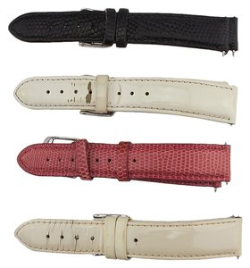 Michele Lot of 4 Michele Lizard & Patent Leather Watch Bands (54630)