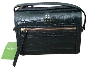 Kate Spade Croco Dark Green Cross Body Bag