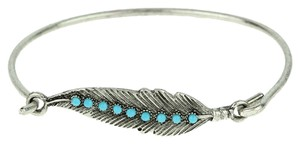 Other Antiqued Silver & Turquoise Bead Leaf Bracelet Free Shipping