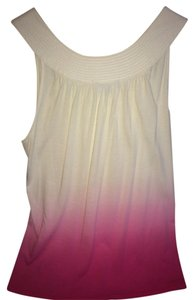 Express Top Pink and White