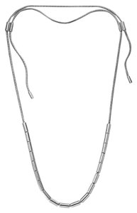 Michael Kors Tubular Bead Snake Chain Necklace, Silver MKJ1458