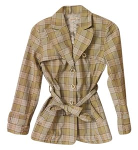 Baxis & Baxis Plaid Womens Plaid Raincoat