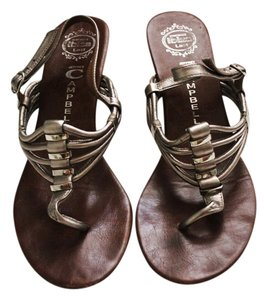 Jeffrey Campbell Summer Sandals Leather Leather Sandals Sandals Gunnetal, SIlver, Tan Wedges