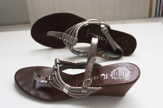 Jeffrey Campbell Sandals Leather Leather Sandals Sandals Gunnetal, SIlver, Tan Wedges