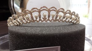 Crystal And Pearl Accented Tiara