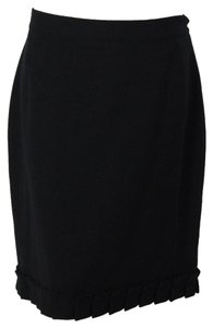 Kate Spade A-line Wool Skirt Black
