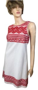 Max Studio short dress Red/White on Tradesy