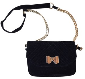 Express Quilted Velvet Shoulder Bag