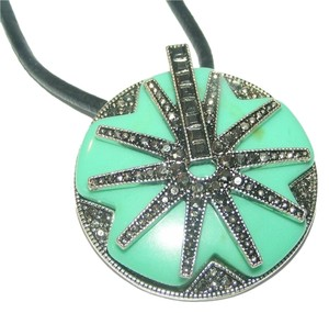 Other Marcasite Turquoise Pendant or Brooch Spur Rowel Necklace Free Shipping
