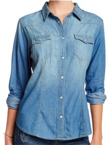 Sandra Ingrish Medium Wash Denim Top INDIGO