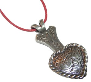 Other Antiqued Silver Heart Concho and Adapter Necklace Free Shipping