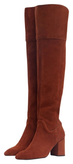 Item - Brown Boiler Red New Tags Over The Knee Suede Boho Block Real Leather Tall Boots/Booties Size US 7.5 Regular (M, B)