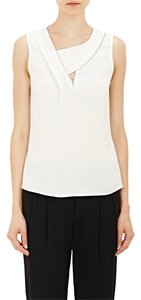 A.L.C. Zipper Detail Designer Asymmetrical Top Off White