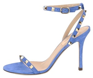 Valentino Rockstud Leather Studded light sapphire Sandals