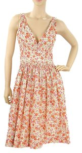 Plenty by Tracy Reese short dress Pink, Orange, Ivory Floral Print Spring Cotton on Tradesy