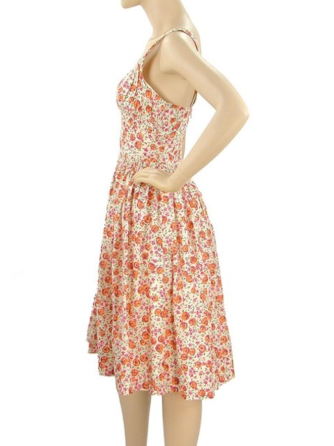 Plenty by Tracy Reese short dress Pink, Orange, Ivory Floral Print Spring Cotton Summer on Tradesy