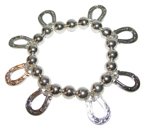 Icon Silver Horse Shoe Stretch Western Bracelet Free Shipping