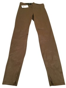 Vince Leather Jeggings-Coated