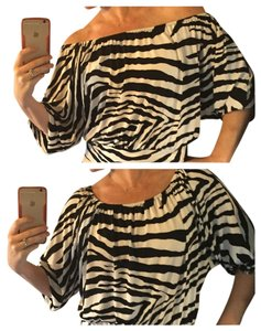 Express Sexy Off The Shoulder Top Black and White