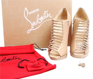Christian Louboutin Nude Manon Buckles Beige Boots