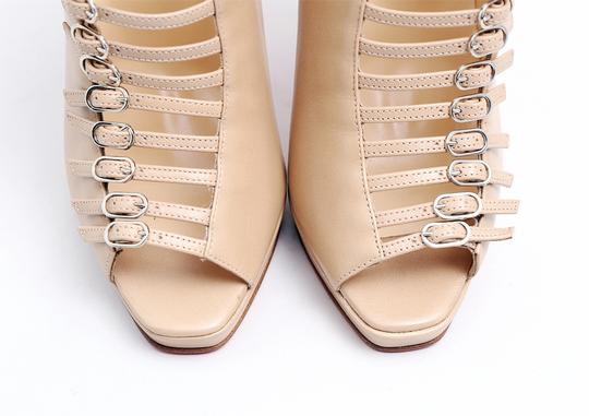 Christian Louboutin Nude Manon Buckles Beige Boots Image 3