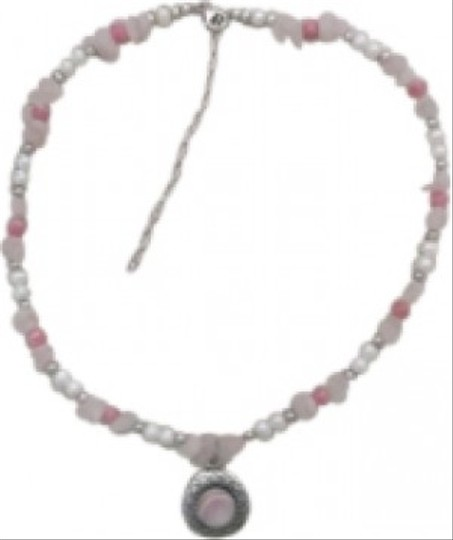 Southwestern by Carolyn Pollock Southwestern Style Rose Quartz and Pearl chocker