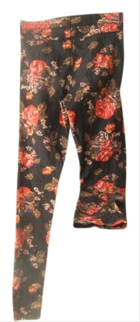 Urban Outfitters Floral Womens Floral Floral Print Floral Print Denim Womens Size 4 Skinny Jeans