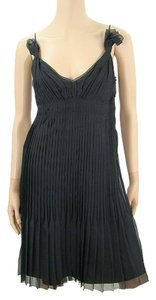 Prada short dress Black Flowy Pleated Silk Party on Tradesy