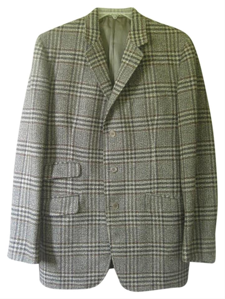 Top Multi Color Mens Vintage Sport Coat Covent Garden Glen Plaid  WX53