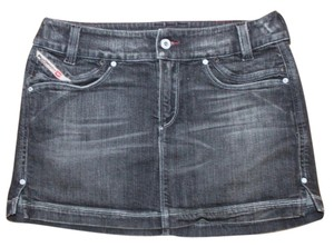 Diesel Denim Micro Mini Pocket Mini Skirt GRAY
