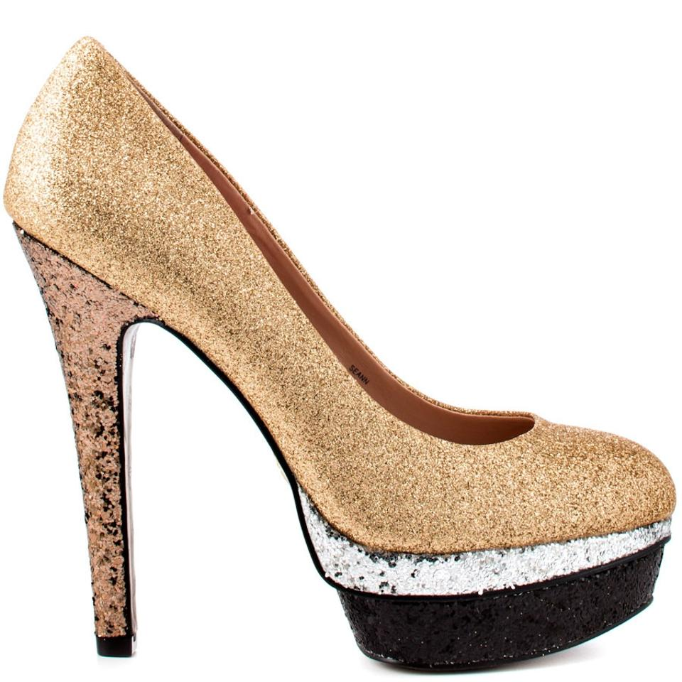 f5a06339496 Betsey Johnson Gold Multi Sparkle Heels Pumps. Size  US 8.5 Regular (M ...