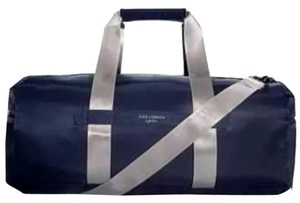 Dolce&Gabbana Blue And Silver Travel Bag