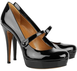 Gucci Patent Leather Black Platforms