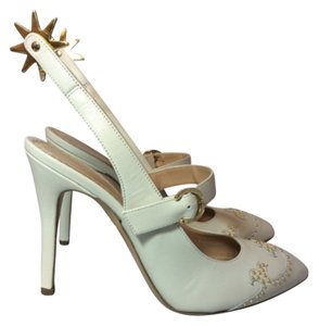Charlotte Olympia Bone White Pumps