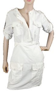 Stella McCartney short dress White Cotton Drop Waist Front Flap Summer Structured on Tradesy