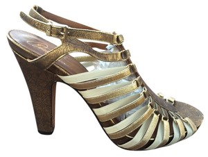 Donald J. Pliner Luxury Textured Exclusive gold/black/cream Sandals
