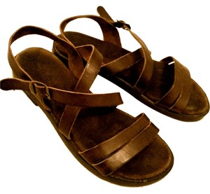 Eddie Bauer Italian Leather Espresso Brown Sandals