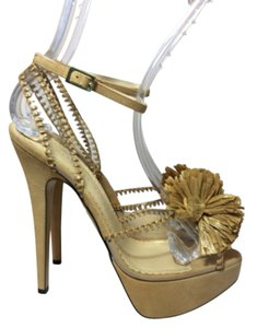 Charlotte Olympia Tan Platforms