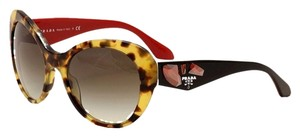 Prada Large Women's Tortoise Sunglasses New