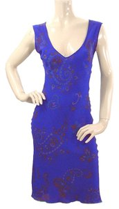 Tracy Reese short dress Purple, Blue Paisley Print Silk Sleeveless on Tradesy