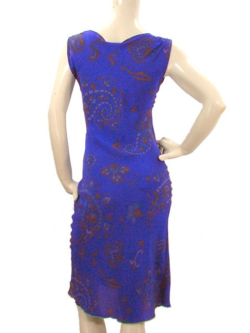 Tracy Reese short dress Purple, Blue Paisley Print Silk Sleeveless Party Spring Summer on Tradesy