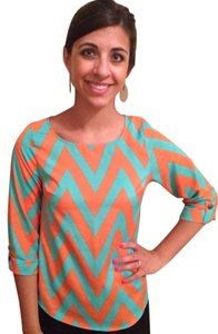 Everly Top Teal & Orange