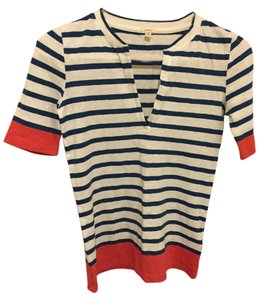 J.Crew Stripes Preppy T Shirt Blue / White/Red