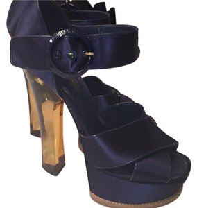 Louis Vuitton Navy Blue Pumps