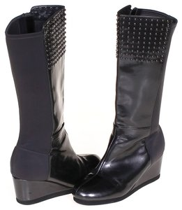 MICHAEL Michael Kors Leather Studded Black Boots