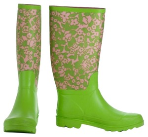 Lilly Pulitzer Green/Pink Boots