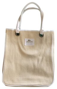 Lacoste Beach Cream Beach Bag